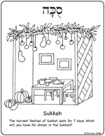 Crayola® Coloring Pages - Building a Sukkah : Sukkot Coloring